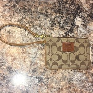 Coach Wristlet Brown with Original C's